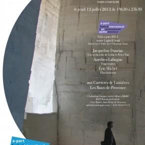 Invitation pour le 12 Juillet / Nuit a-part aux Carrières de Lumières / de 19h30 à 23h30 / Save the date