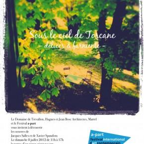 Invitation pour dimanche 8 Juillet / a-part / Salles / Spatafora / Marrel / Domaine de Trevallon